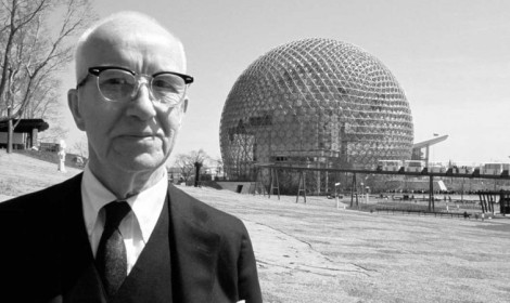 Richard Buckminster Fuller and his Geodesic dome. photo: blogs.slq.qld.gov.au