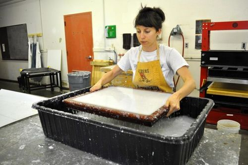 Paper-making at Fresh Press
